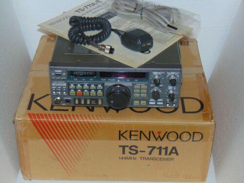 KENWOOD TS-711A ALL MODE 2 METER TRANSCEIVER W/TU5 TONE OPTION + BOX CLEAN RADIO