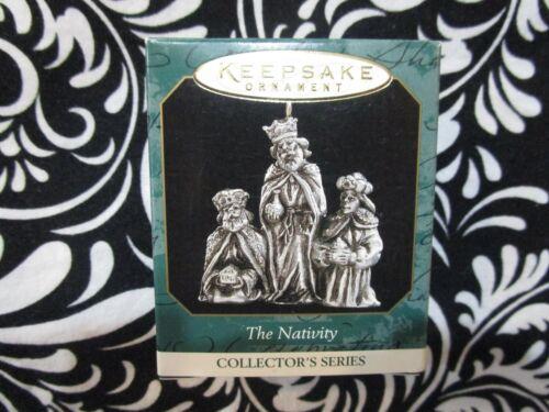 "1999 CHRISTMAS! MINIATURE HALLMARK ORNAMENT PEWTER #2 ""THE NATIVITY"" T3102"
