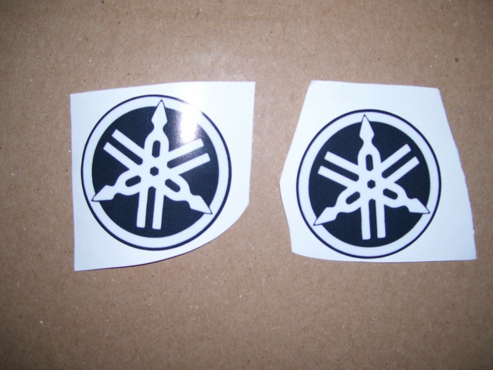 reproduction vintage yamaha snowmobile seat decals 60's,70's