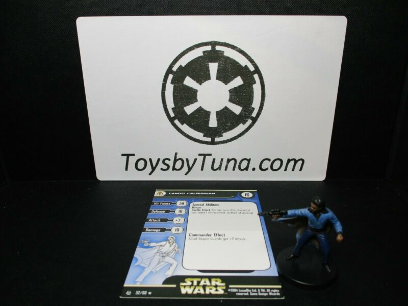Star Wars Miniatures Lando Calrissian Rebel Storm RS w/ Card mini RPG Legion