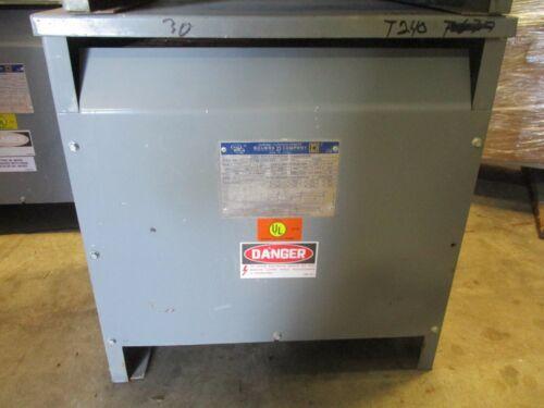 SQUARE D 30T3H, 30 KVA, 3 Phase, 480 X 120/208 Volt Transformer (OS)- T240