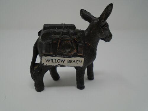 Vintage Willow Beach Donkey Mule Metal Figurine