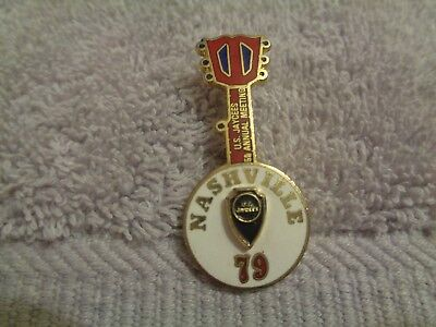 Tennessee Jaycees 1979 National Convention Nashville Banjo Lapel pin-Hat pin