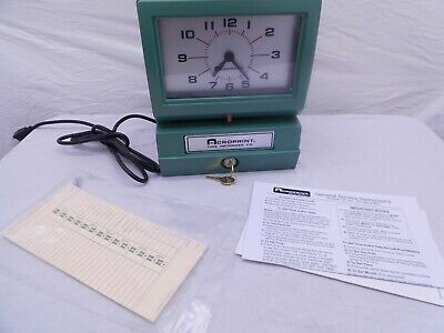 Acroprint Model 125ar3 Analog Manual Print Time Clock With Day0-12 Hours