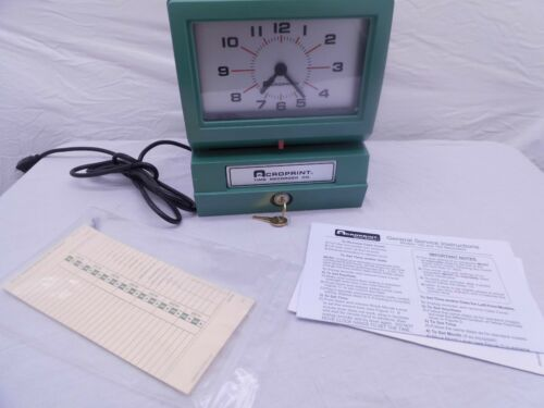 Acroprint Model 125AR3 Analog Manual Print Time Clock with Day/0-12 Hours