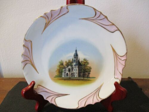 Circa 1910 Souvenir Plate Methodist Church Wheaton Illinois Wheelock #