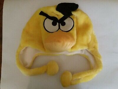 Man Yellow Hat Halloween Costume (Never Used ANGRY BIRD Yellow Winter Halloween Costume Hat Fuzzy)