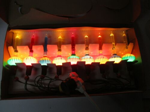 Old 9 Light C-6 NOMA Christmas Bubble Light Set - Original Box w Cord - #6