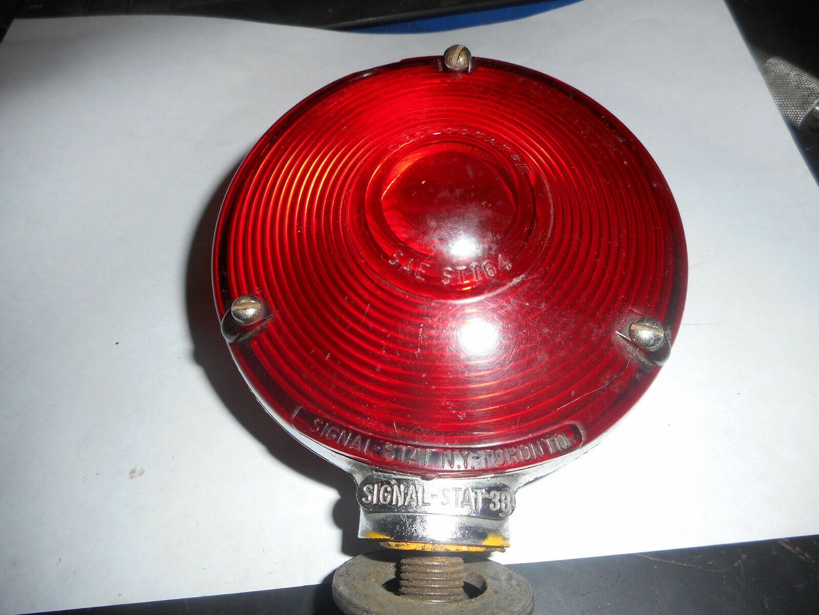 VINTAGE SIGNAL-STAT 38 SAE-STI64, RED AMBER TESTED, WORKS!