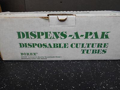 Borax Disposable Borosilicate Glass Tubes Approx 250 16x100 Mm