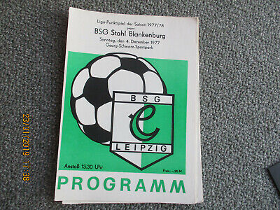 Programm 1987//88 BSG Stahl Thale Wismut Gera