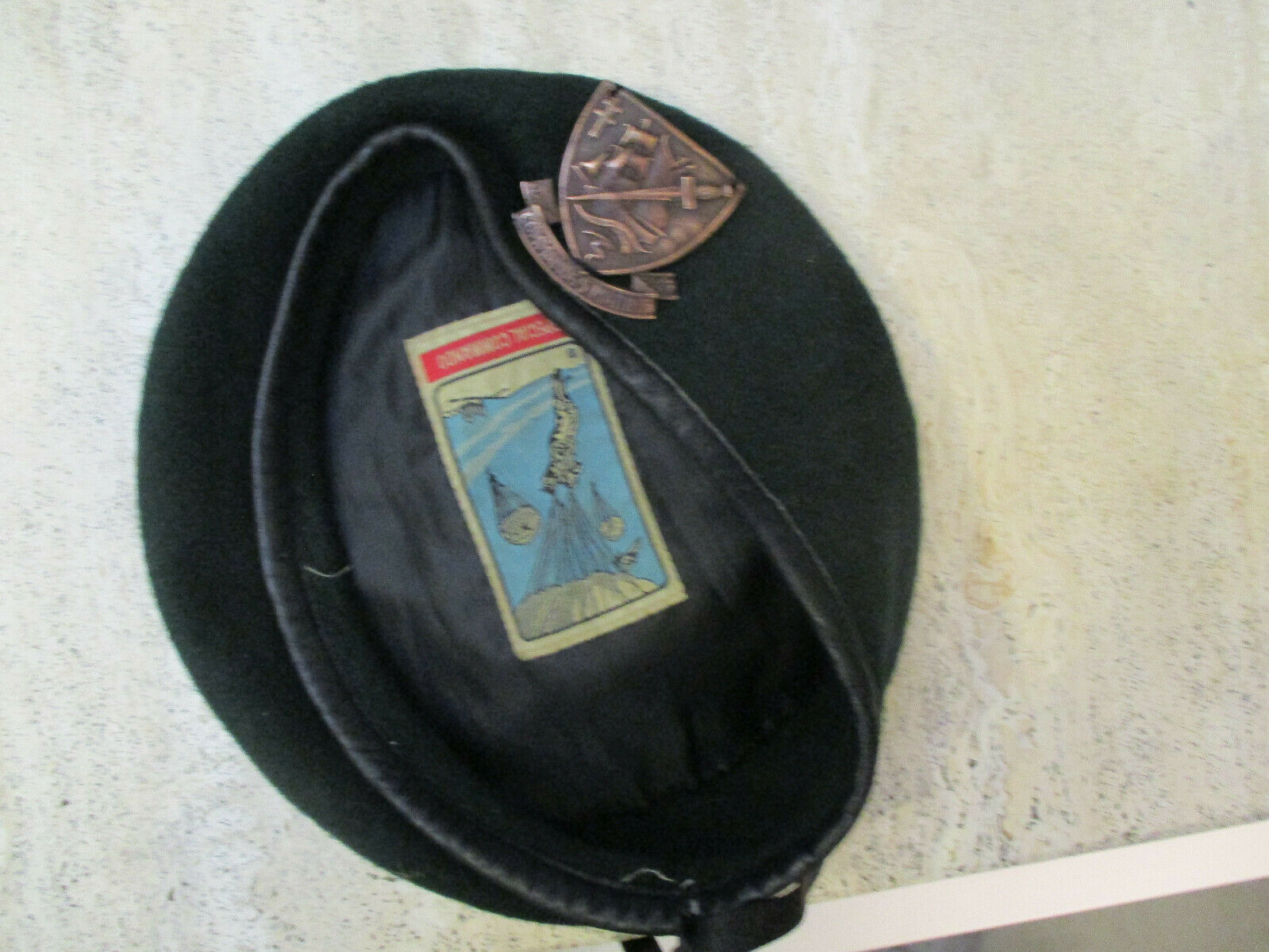 Beret vert commandos marine badge nté