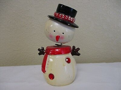 Old/Vintage Bobble Head Snowman Christmas Decoration/Figurine