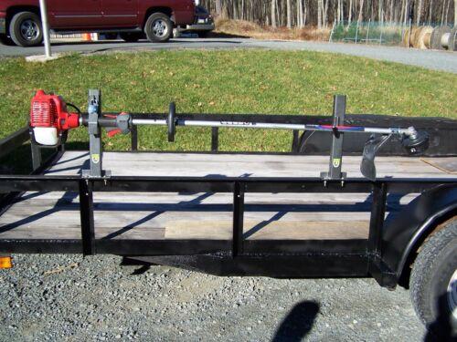 Lockable Trimmer Rack Landscape OPEN trailer PK-6S