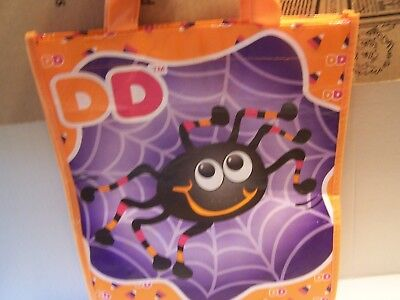 Dunkin Donuts Trick Treat Scary Spider Candy Halloween Reusable Bag Tote DD - Halloween Donuts