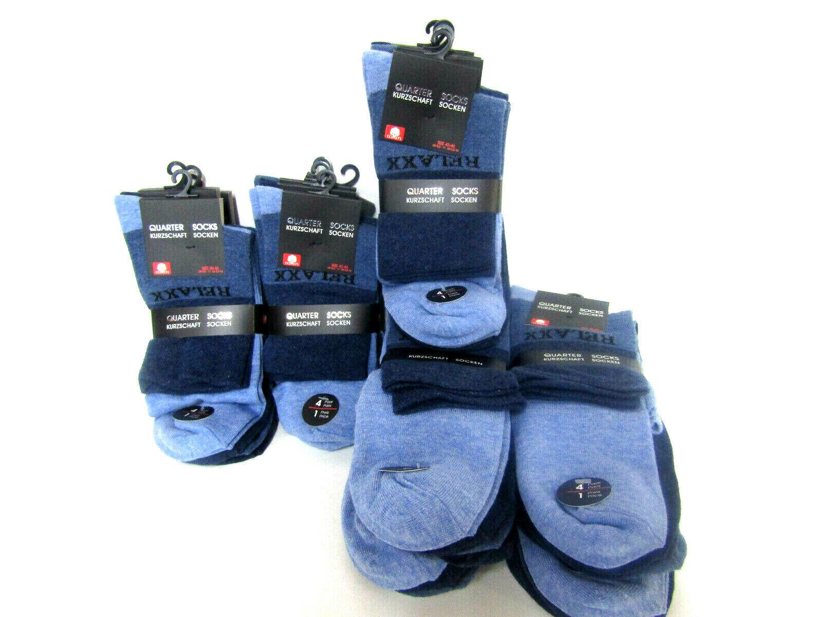 4 Paar Herren Quarter Kurzschaft Socken JansBlue Top Qualität
