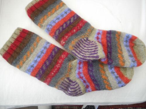 Handmade Socks MULTI-COLORED - YUMMMY WARM - Made in Nepal - DOWN TO EARTH