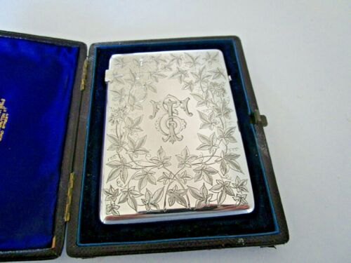 Victorian Sterling Silver Calling Card Case, William Summers, London 1877