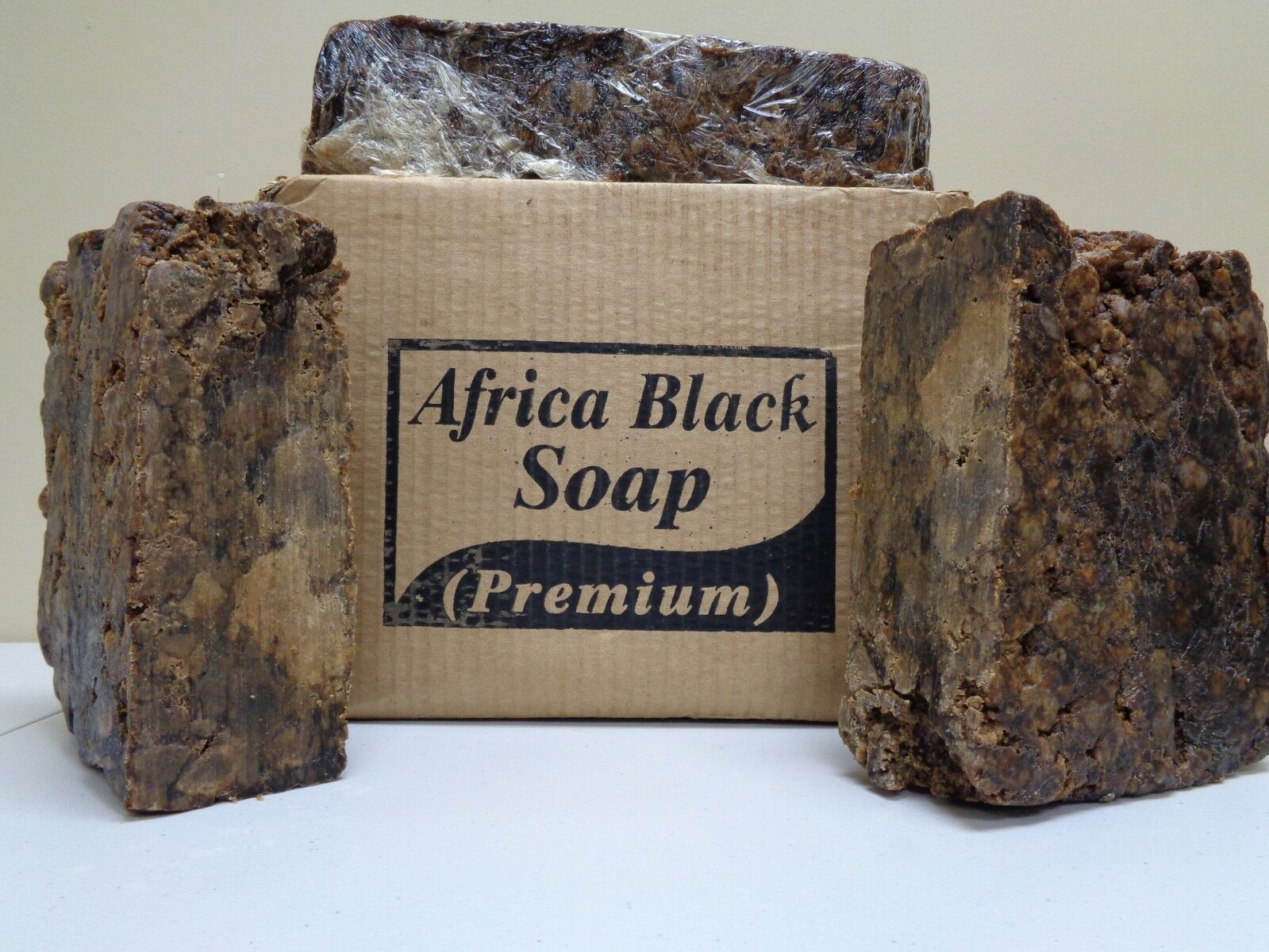 RAW AFRICAN BLACK SOAP Organic Unrefined GHANA Premium Quali