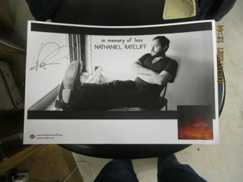 NATHANIEL RATELIFF In Memory Of Loss 2010 PROMO POSTER SIGNED BY NATHANIEL FOLK