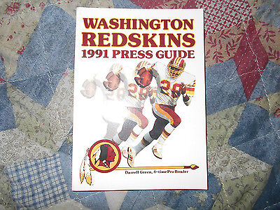1991 Washington Redskins Media Guide Yearbook Super Bowl Champs Nfl Football Ad