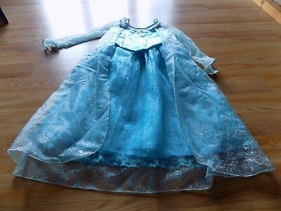 Size Large 10-12 Disney Parks Frozen Queen Elsa Costume Dress Up Halloween EUC - Elsa Halloween Costume Size 10-12