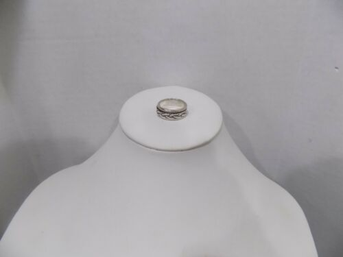 STERLING SILVER SPINNER RING BRAIDED SPINNING  BAND MEXICO 925 SIZE 6.25