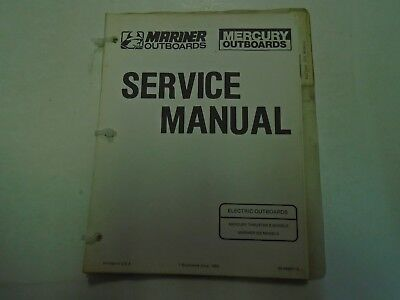 Mercury Mariner Service Manual Electric Outboards Thruster II Mariner 222 Models