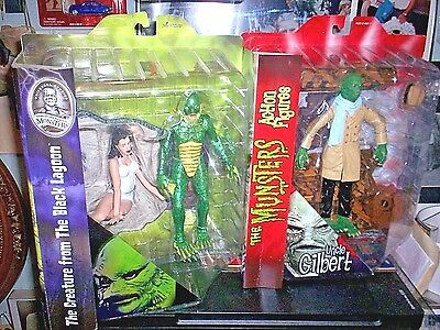 CREATURE FROM THE BLACK LAGOON & Munsters UNCLE GILBERT Diamond Select MIPS Figs