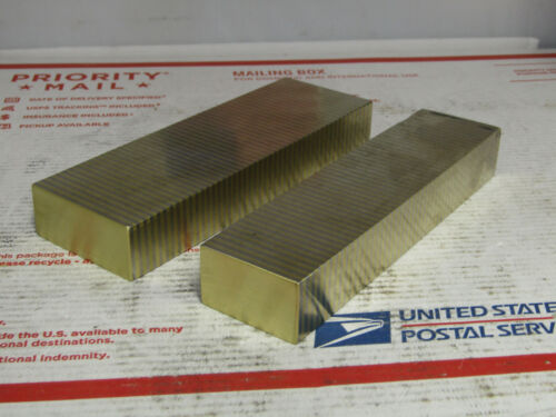 2Pcs. Magnetic Transfer Blocks, Brass and Steel,Anton Brand,Surface Grinding