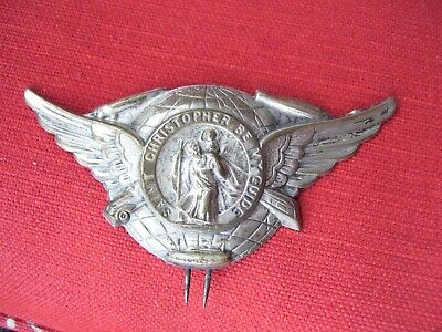 Original 1920 's- 1930s Vintage auto Visor St Christopher guide Ford chevy gm