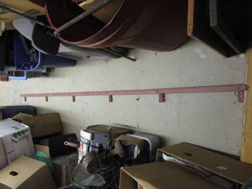 Antique Barn Door Track for Sliding Door Rollers Hangers 10 ft Nib & Notch