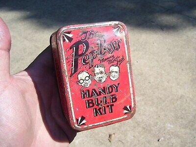 Original 1920 's- 1930s Vintage Pep Boys Spare bulb kit box Hot Rod Light Lamp