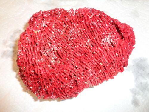 "8"" Medium Piece Natural Ocean Reef Sea Coral RED Tint -  7 oz."