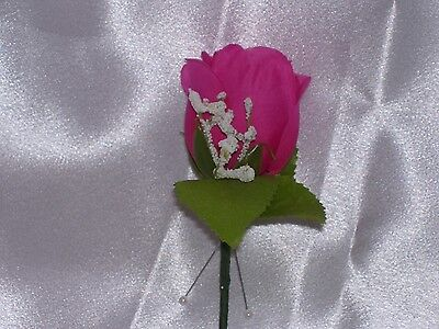 Pink Father Boutonniere Groom Wedding Bestman Usher Prom Corsage Quinceanera