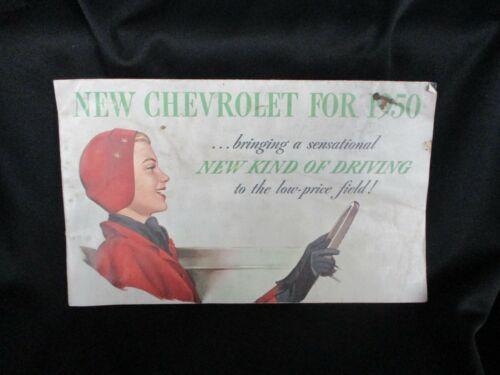 NEW CHEVROLET FOR 1950 BROCHURE