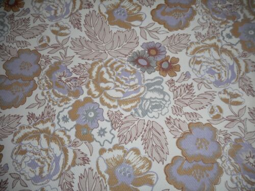 Vintage English Floral Cotton Fabric ~ Lavender Gray Mocha Brown ~ Liberty