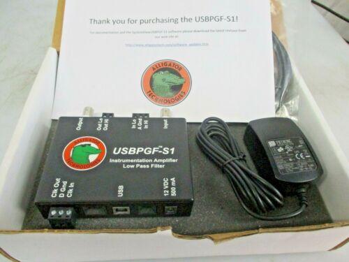 NEW ALLIGATOR TECHNOLOGIES INSTRUMENT AMPLIFIER LOW PASS FILTER USBPGF-S1/L