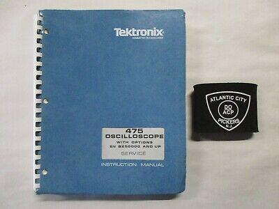 Tektronix 475 Oscilloscope W Options Sn B250000 Up Service Instruction Manual