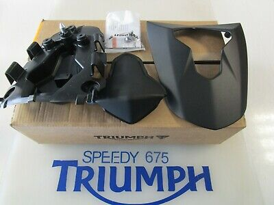 TRIUMPH DAYTONA 675  R REAR SEAT COWL MATT PHANTOM BLACK A9708343 PD