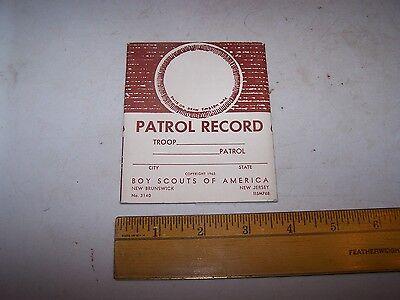 1965 BOY SCOUTS OF AMERICA Patrol Record - Unused