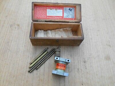 Vintage Dumar Minute Man Magnetic Base Dumont Corp Machinist Tool Original Box