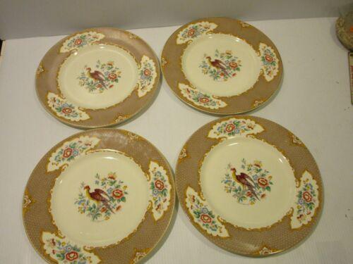 Myott Old Bow Pheasant Set 4 Dinner Plates
