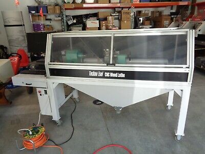 Cnc Wood-metal Lathe Turning Center 7 X 38 Free-stand Techno-isel Pc-software