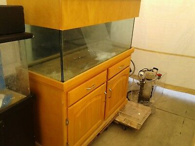 75 Gallon Glass Aquarium Complete Setup with Stand, Sump, and Extras