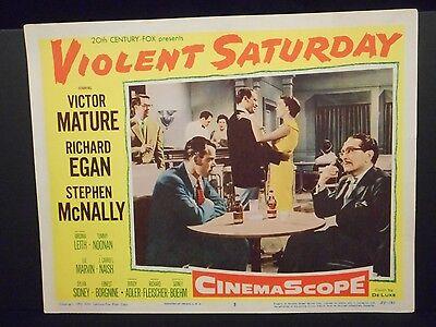 Lee Marvin Violent Saturday 1955 orig Lobby Card # 5 VF Film Noir