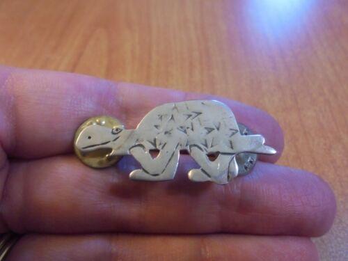 Vtg Sterling silver handmade turtle hat tack tac pin brooch 4.6 grams