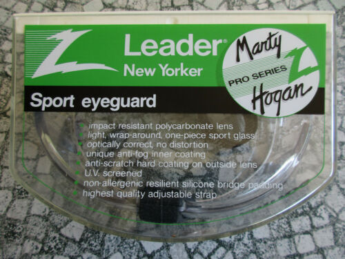 Marty Hogan Pro Series Sport Eyeguard Anti Fog Glasses w/ Adjustable Head Strap