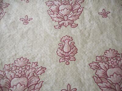 Vintage 1940/'s Shabby Garland of Ribbon Laurel Leaf Fabric ~Blush Apricot Gray