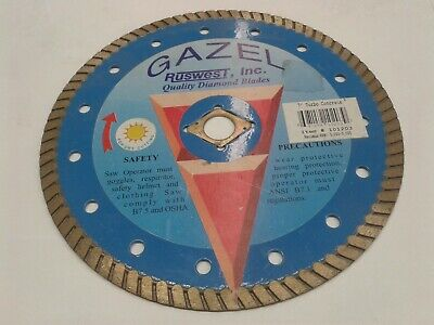 Ruswest Gazel 7 Turbo Concrete Diamond Saw Blade. 10123 697159102039